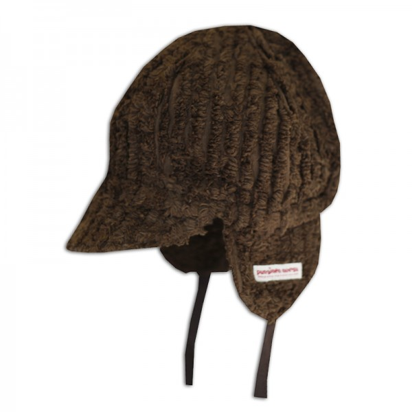 Mini cap, brown chenille