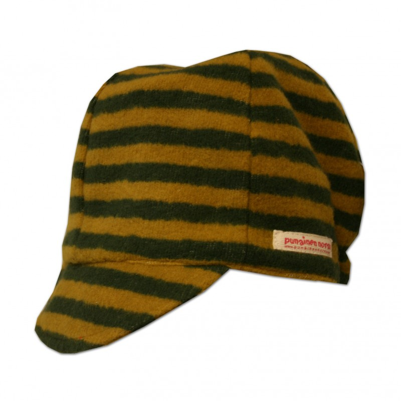 Cap. green stripe
