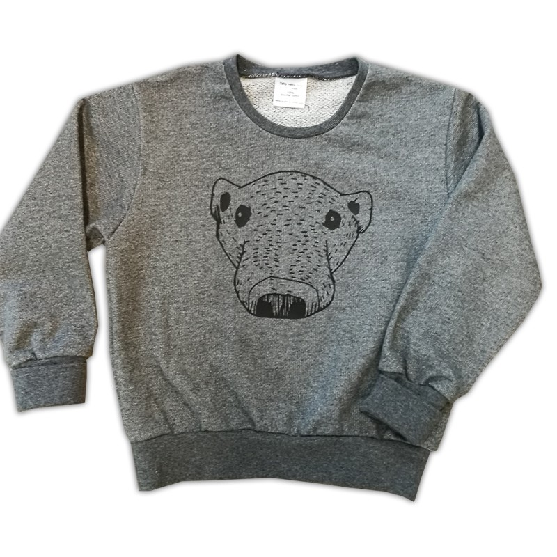 Bear college shirt, gray