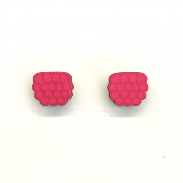 Raspberry, earrings