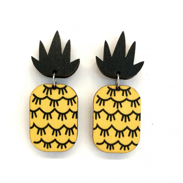 Pineapple, earrings
