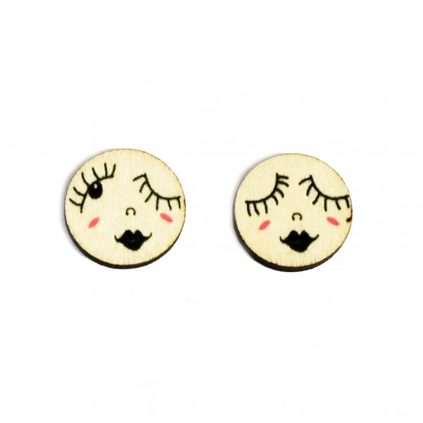 Bella, mini pin earrings