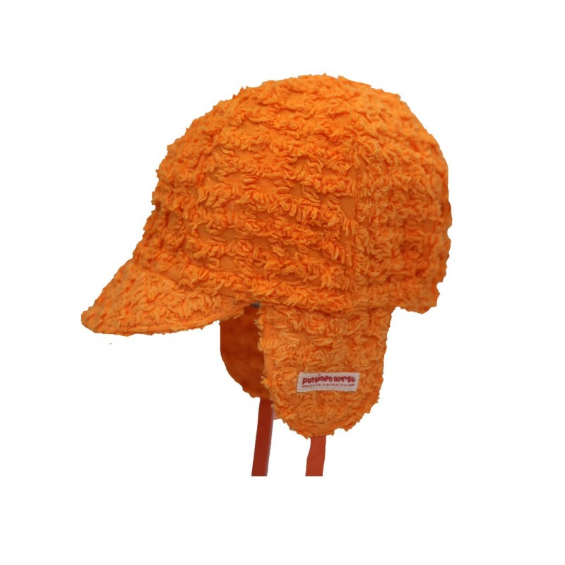 Mini cap, orange check