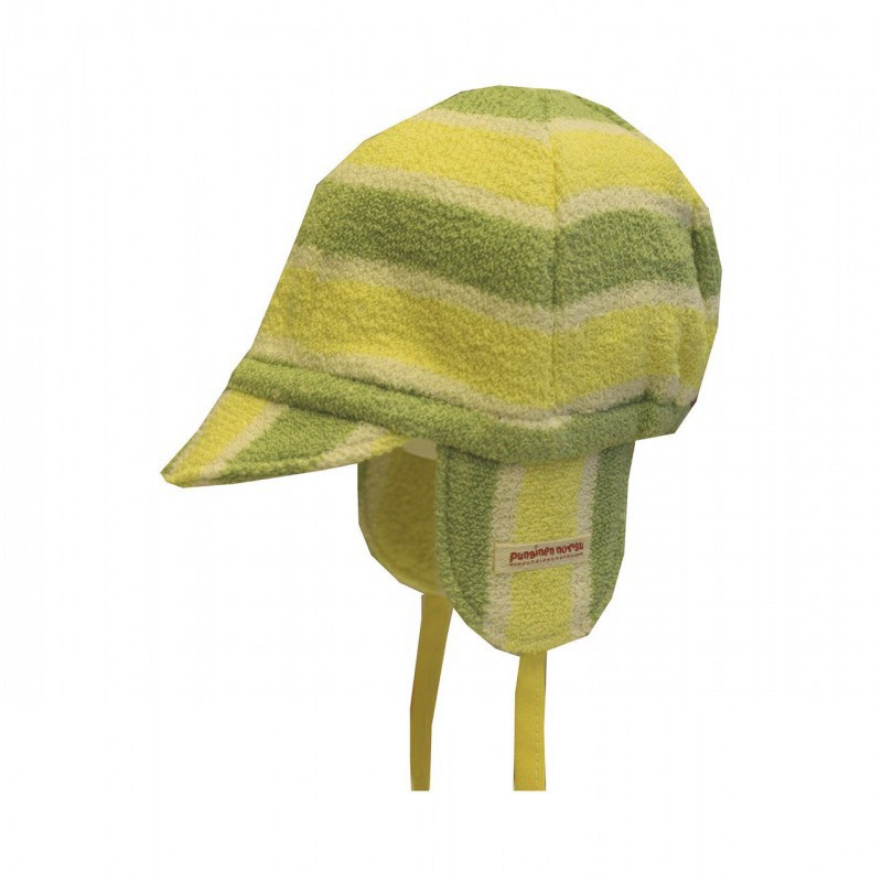 Mini cap, green stripe