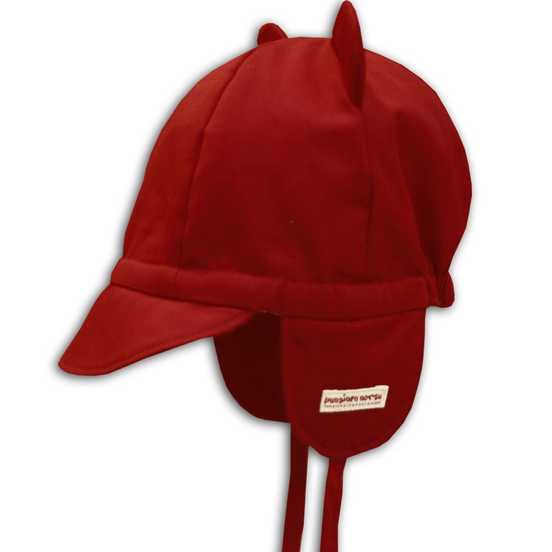 Mini cap with ears, red