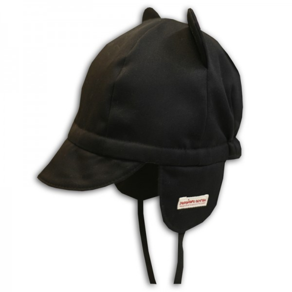 Mini cap with ears, black