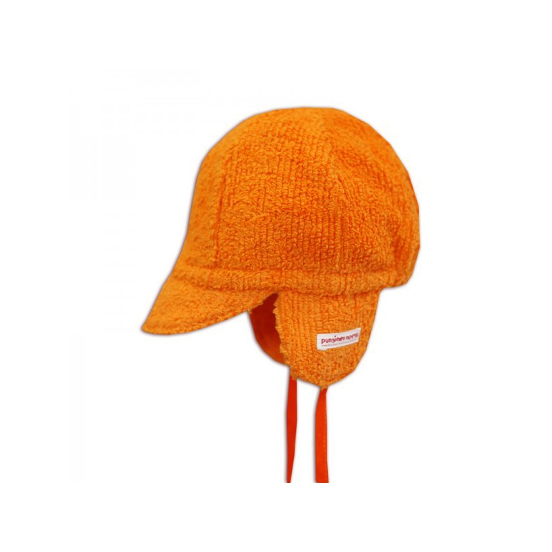 Mini cap, orange chenille