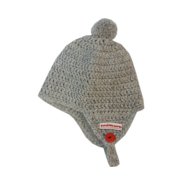 Alpaca -hat, 0-6m, grey